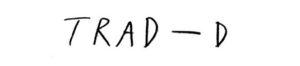 TRAD-D手書きロゴ