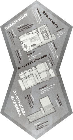 GARAGE HOME図面(縦長)