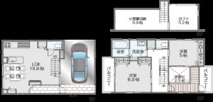 ガレージホーム図面