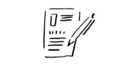 手描きイラスト「応募用紙」