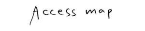 手書文字「アクセスマップ」