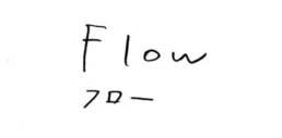 手書き文字「フロー」
