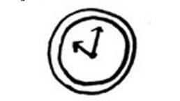 手書きイラスト「壁掛け時計」