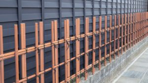 日本風の外壁