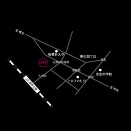 矢部町ラボ所在地マップ