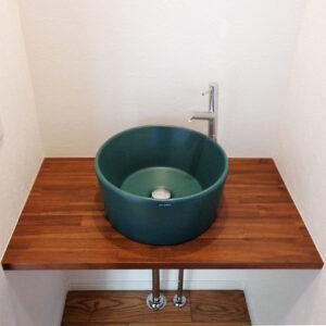 山京建設の造作洗面台施工例