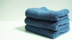 洗い立てのタオル