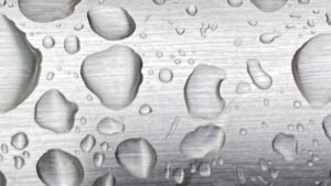 ステンレスと水滴