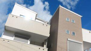 3階建ての新築一戸建て住宅